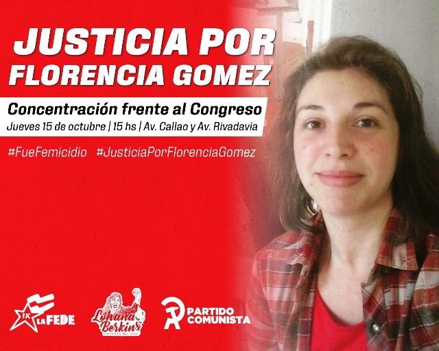 Justicia por nuestra camarada Florencia Gómez