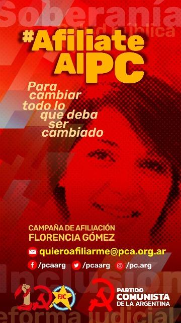 Lanzamos la campaña de afiliación y crecimiento ¨Florencia Gómez¨