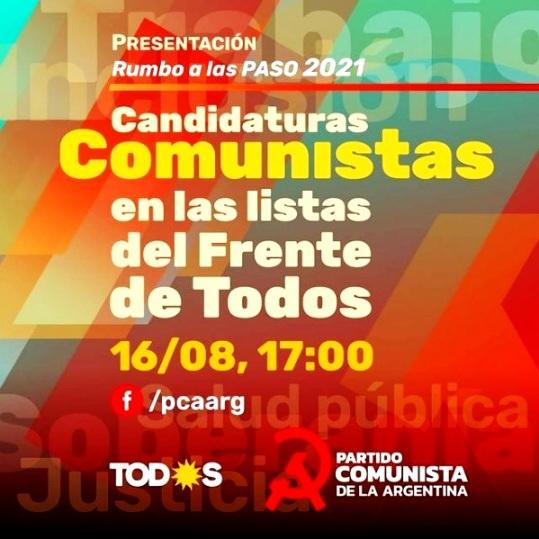 Nuestros candidatos comunistas en el Frente de Todos